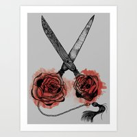 the scissors Art Print