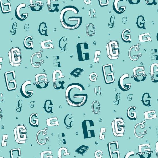 Letter Patterns, Part G Art Print