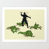 The Real Ninja Part 1 Art Print