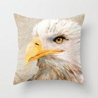 The Hawk Throw Pillow