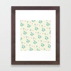 Spider Daisies (mint + C… Framed Art Print