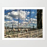 Bridge And Clouds Art Print