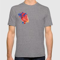 I give you my heart Mens Fitted Tee Tri-Grey SMALL