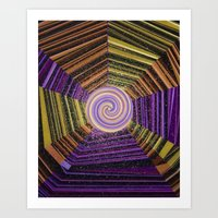 Celtic Spirals Art Print