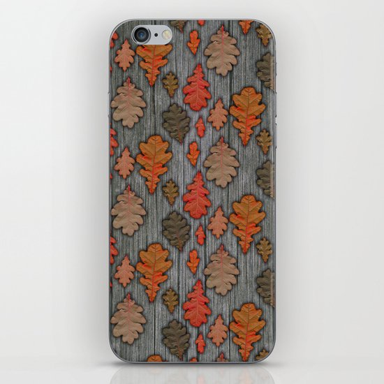Patterns of Nature - Autumn Oak Leaves iPhone & iPod Skin