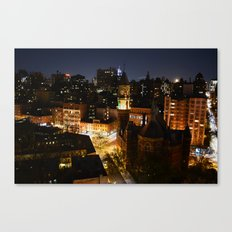 Moon Rising Over East Villiage, NYC Canvas Print