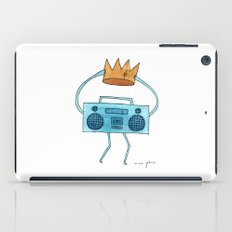 boombox holding a paper crown iPad Case