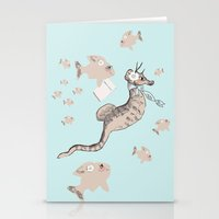 Seahorse School Stationery Cards