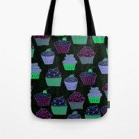 Cupcakes Curly Tote Bag