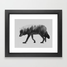 The Wolf (black & White … Framed Art Print