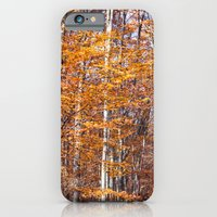Golden Brown Leaves iPhone 6 Slim Case