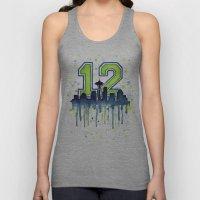 Seattle 12th Man Art Sky… Unisex Tank Top