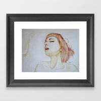 Feel Like Feather Framed Art Print