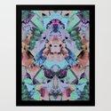 Crystal Collage Art Print