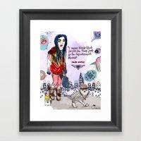 Department Store Saga Framed Art Print