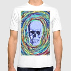 A Skull's Vortex Mens Fitted Tee White SMALL