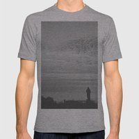Sun Set Mens Fitted Tee Athletic Grey SMALL
