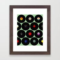 Vinyl Love Framed Art Print