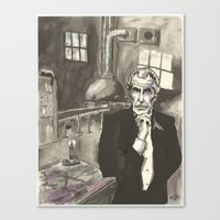 Portrait of Vincent Price in the Laboratory Canvas Print