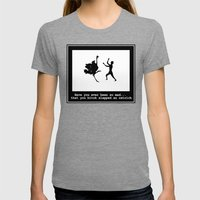 Mad at ostrich Womens Fitted Tee Tri-Grey SMALL