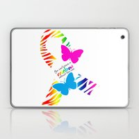 You can't have a Rainbow without the Rain - Awareness Ribbon Laptop & iPad Skin