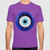 Blue eye Luck Mens Fitted Tee Ultraviolet SMALL