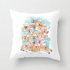 Wild Family Series - Snow Monkey Throw Pillow