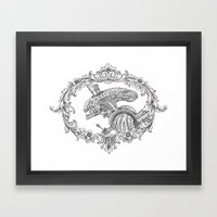 Fancy Xenomorph Framed Art Print