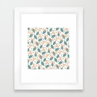 spots, leaves and bees Framed Art Print