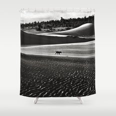 Walking alone through the desert of life Shower Curtain