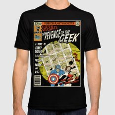 Geek Night II: The Revenge of the Geek Poster Black SMALL Mens Fitted Tee