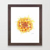 Marigold Mandala Framed Art Print
