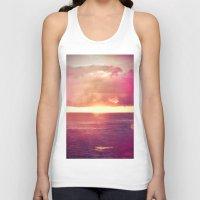 Ocean Sunset Bokeh Unisex Tank Top
