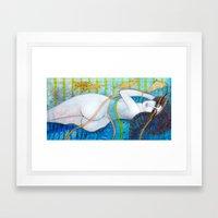 BLUE DREAMS Framed Art Print