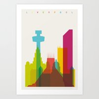 Shapes Of Liverpool. Acc… Art Print