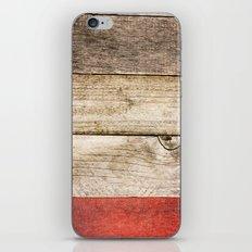 Wood, Wood, Red iPhone & iPod Skin