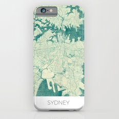 Sydney Map Blue Vintage iPhone 6 Slim Case