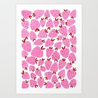 strawberry fields Art Print