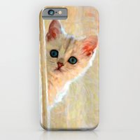 iPhone & iPod Case featuring Kitten By The Window - Painting Style by ElvisTR
