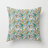 Pug Pattern Throw Pillow