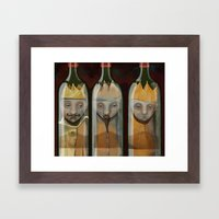 Bottled Kings Framed Art Print