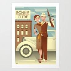 Bonnie & Clyde Art Print