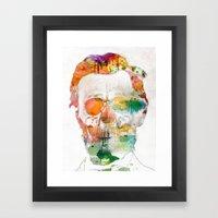 Abraham (Abe) Lincoln Skull Watercolor Framed Art Print
