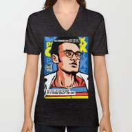 Post-Punk Comix: Moz Unisex V-Neck