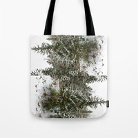 French Alps Trees Tote Bag