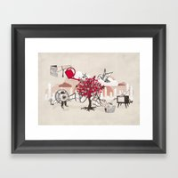 Celluloid Gardens Framed Art Print