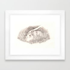 Holy Pig Framed Art Print