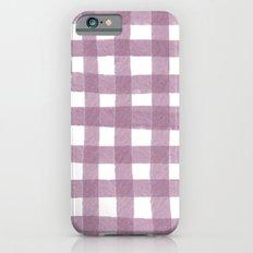 Gingham Plum iPhone 6 Slim Case