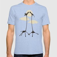 SOLO Mens Fitted Tee Tri-Blue SMALL