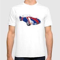 Shaguar (on Union Jack) Mens Fitted Tee White SMALL